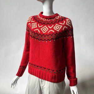 Handknit Tommy Hilfiger Sweater Sized Small Petite